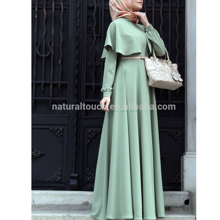 Wholesale Winter High Quality Fabric Long sleeve Abaya Arabic Islamic long Maxi Dress