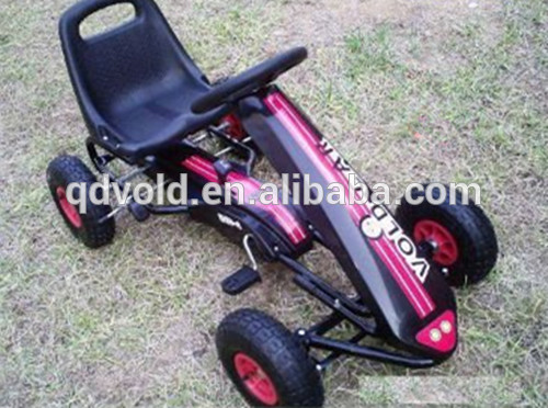 Single Adjustable Seat Kids Pedal Go Karts with AIR Tires
