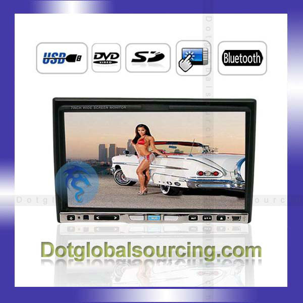 "New!!! 7"" Car Multimedia DVD Player Bluetooth 2 Din Touch Screen Remote Control"