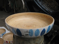 Bamboo Salad Bowl, 2014 Design From Huongdang Lacquer Supplier, 100% Handicraft, Natural And High-Quality