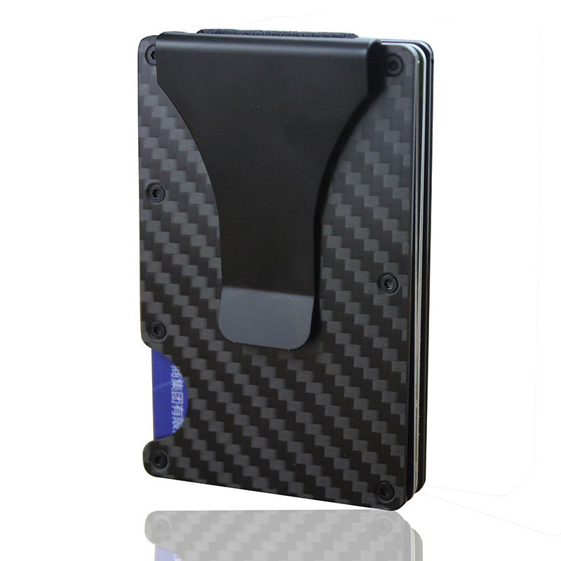 2019 Upgraded Version rfid blocking card <strong>wallet</strong> carbon fiber slim <strong>wallet</strong>