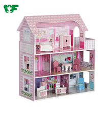 WEIFU Pretend Kids Play Wooden Doll House For Toy
