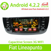 LSQSTAR Multi-touch Capacitive Screen 3G internal Wifi for Fiat Linea/punto Android 4.4.2 Car Radio head unit With Gps