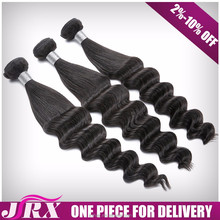 brazilian human weaving Hand Tied doll hair material no shedding no bad smelling straight loose wave hair bundle