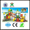 Funny day playground shade covers plastic playground slide rubber playground tiles QX-11014A