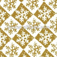 Golden snow printed tissue paper for Christmas gift
