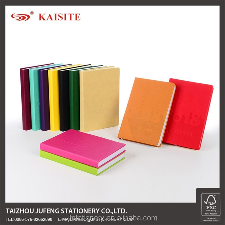 colorful hardcover notebook diary
