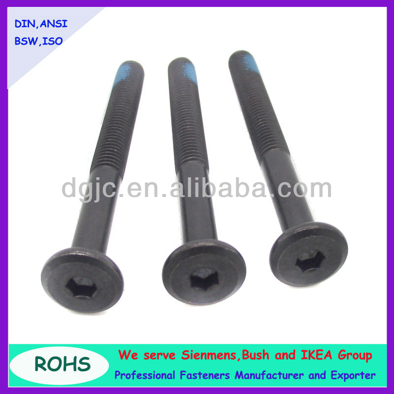 DIN7991 hex socket furniture screw / decorative furniture screw