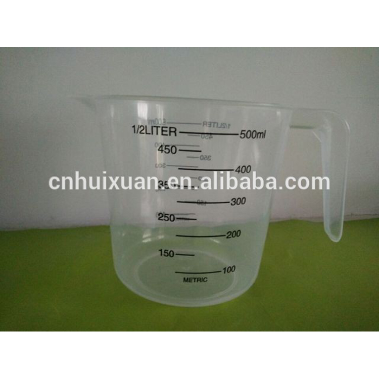 Good quality Clear 500ml Plastic Measuring <strong>Cup</strong>