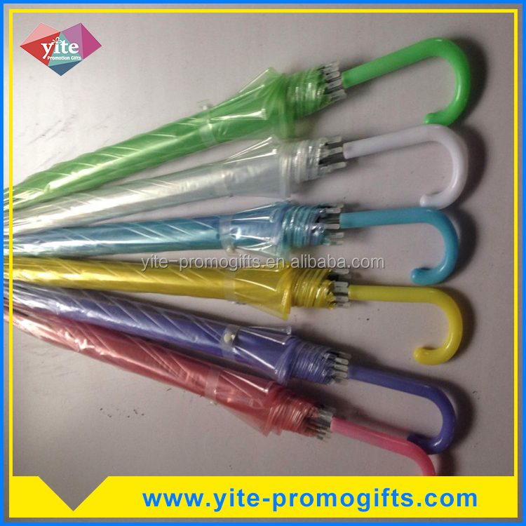 Wholesale kids transparent POE umbrella promotional