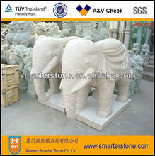 Elephants Granite Stone Sculpture