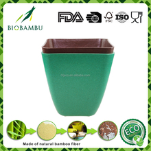 Custom printed biodegradable decorative compostable bamboo flower pot