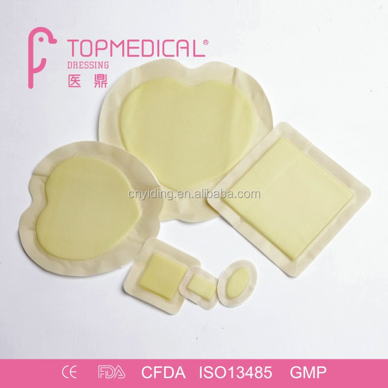 CE Approval Hydrophilic Silicone Foam Dressing, comparable to allevyn