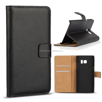 Good sale genuine leather flip wallet cell mobile phone case for Samsung Galaxy Note 7