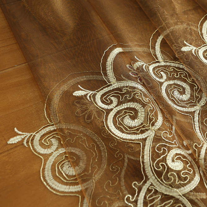 Hot selling high quality turkish style blackout embroidered curtains for the living room