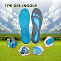 Insoles Type and Blue TPE gel +Grey velutum Material foot massage gel insoles