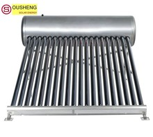 Compact non-pressurized solar water heater thermal solar panels