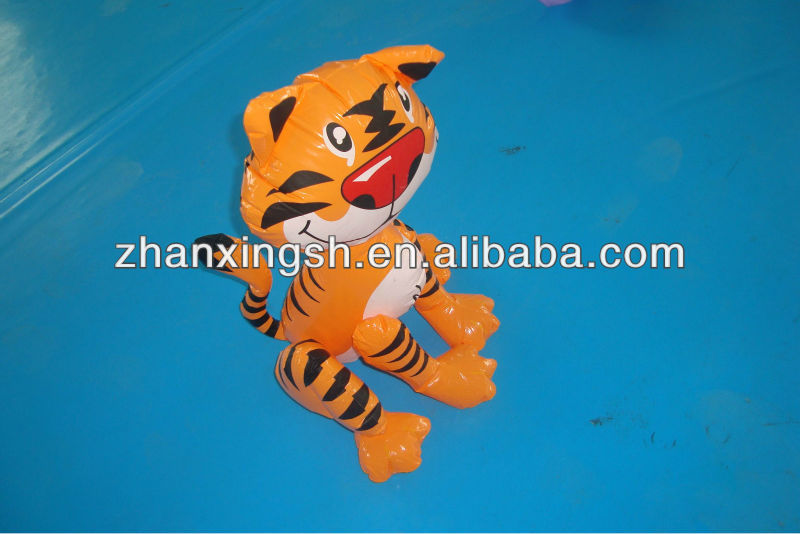Advertising pvc inflatable tiger toys for kids decoration