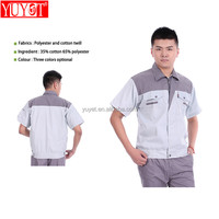 Factory wholesale two tone work shirt breathable workwear shirts ripstop