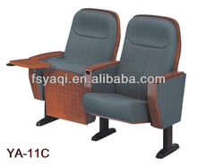 With writing table wood cover folding theater seats(YA-11C)