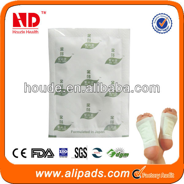 New products for 2014 Hot sale japanese detox foot pads