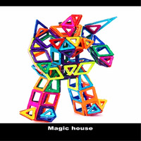 Wholesale high quality modern design building block toys, glow in the dart magic magnetic blocks, intelligent puzzle toys