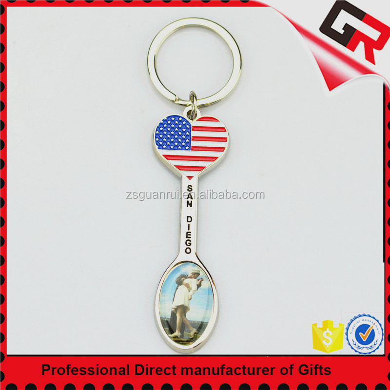 Fashion Wholesale Travel Souvenir Promotional Cheap Custom Personalized Metal Keychain