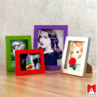 Colourful Plastic Picture Frame 4x6 5x7 6x8 8x10 self-adhesive photo frame
