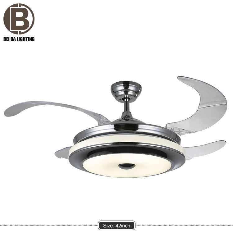 air conditioning invisible blade ceiling fan light/remote for ceiling fan H4214