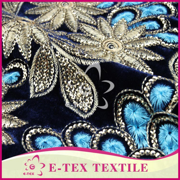 Shaoxing textile Custom embroidery design 100% polyester fabrics thailand fabric