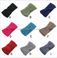12 colors winter knitted headband, crochet headband for adults
