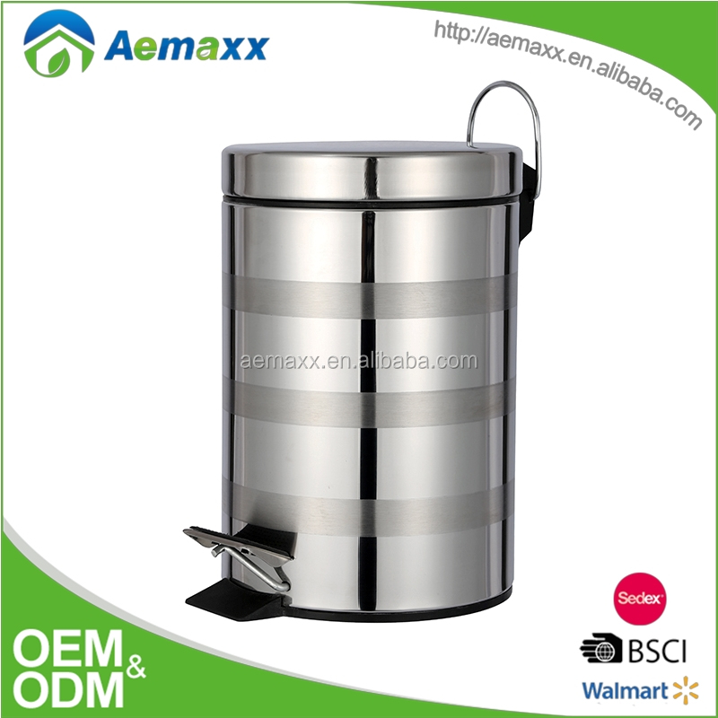 Guangzhou High Quality Round Office Foot Pedal Dustbin Lady Sanitary Bin in Kenya