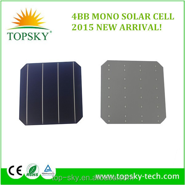 2015 New Arrival 6x6 4bb Monocrystalline Photavaltic Solar
