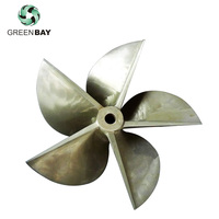 5 fan blades bronze marine fixed pitch propeller