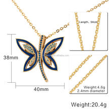 Stainless Steel Butterfly Pendant Gold Matte Design for Women Wholesale
