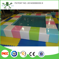 Square water bed electric indoor play equipment for children