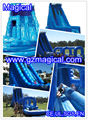 Giant inflatable water slide for adult/long cover blue water slide
