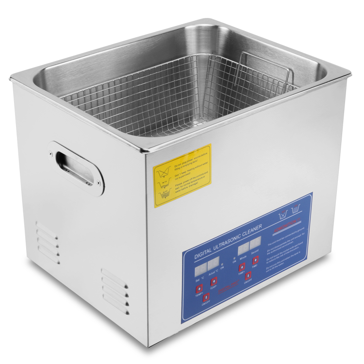 New Stainless Steel 10 L Liter Industry Heated Ultrasonic Cleaner Heater <strong>w</strong>/Timer