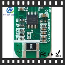 lighting power bms ce lifepo4 battery board discharging 10A with balance pcb mount audio 6.35mm stereo jack socket