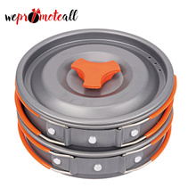 Amazon Hot Selling Outdoor Camping Stainless Steel Aluminum Cooking Pots