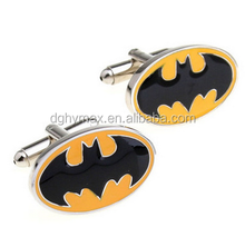 Batman model soft enamel +epoxy sleeve French style cufflinks