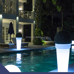 waterproof high plastic color changing illuminated glow flower pot led light