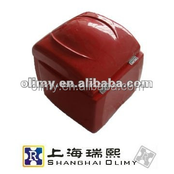 2015 China popular firm and safe heat preservation fiberglass motorcycle pizza delivery box