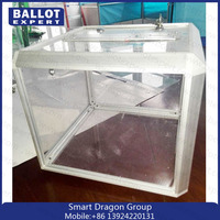 Custom Clear Acrylic Ballot Box/Aluminum box/acrylic vote box with key