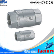 2PC Vertical 800WOG 316 stainless steel spring check valves