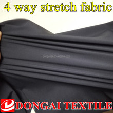 bi-stretch/4 way stretch poly pongee fabric with tpu laminating
