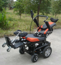 2015 lastest style mulfit functional standing wheelchair electric/ back recling, seat lifting motor wheelchair