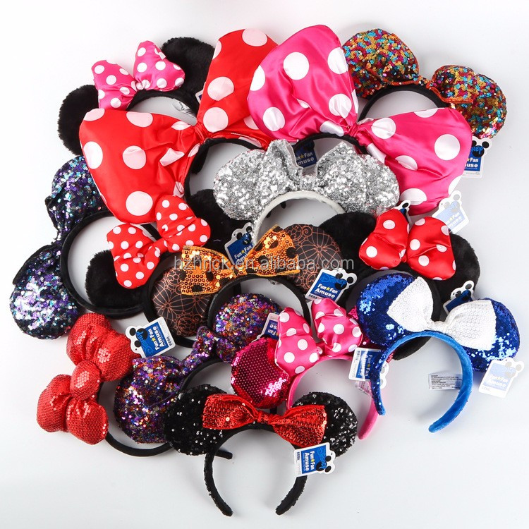 MickeyMouse Hairband mickeymouse party headband Mickey Ears Mouse Headband