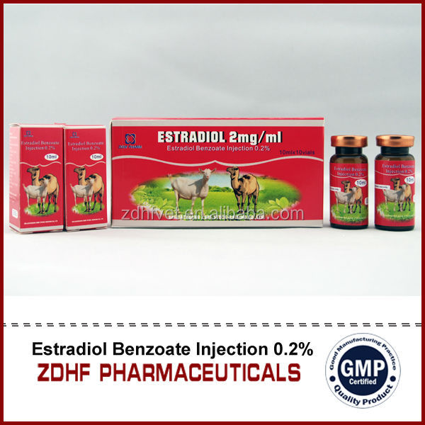 Cattle Camel Sheep Hormons Oem 10ml Estradiol Benzoate Injection