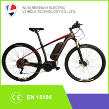 2017 high quality mid drive bafang motor 250w carbon fibre mountain electric bike